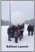 Children with Weather Balloon