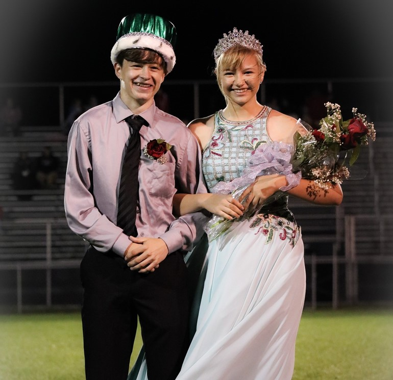 Homecoming King and Queen  - Austin Dolan and Tara Jackson