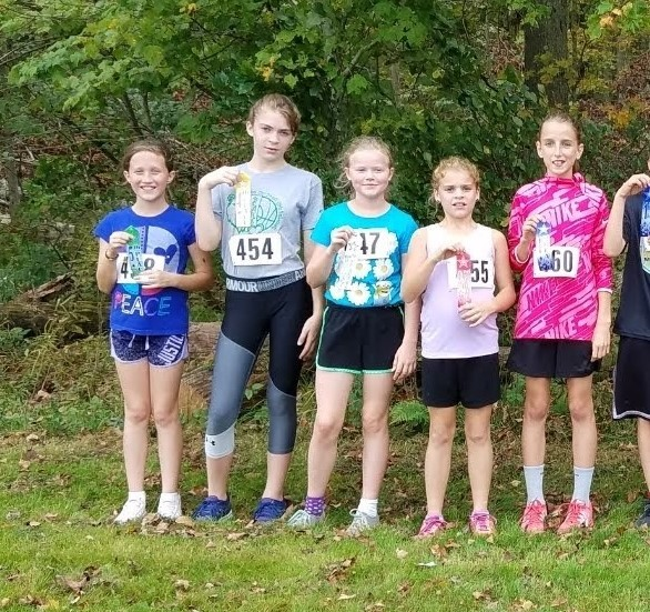 5th and 6th grade Fun Run.  Top 5 girls.
