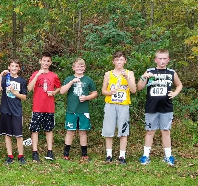 5th and 6th grade Fun Run.  Top 5 boys.