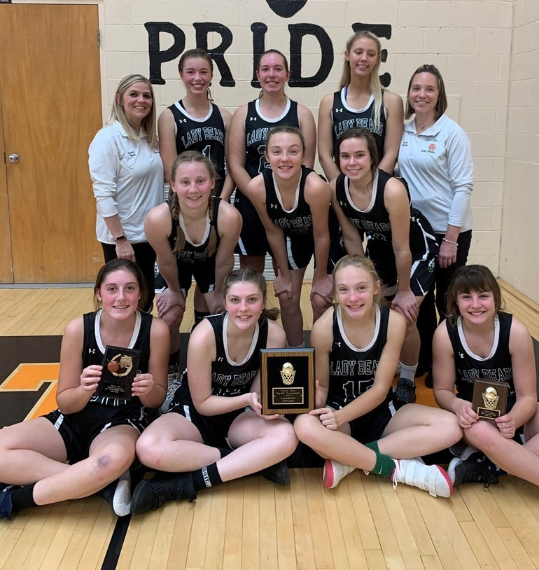 Girls Basketball team are back to back champions of the East Forest Tournament