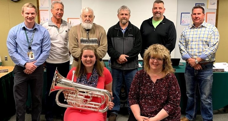 Emily Eastman, earned All-State honors during the All State Band Festival and placed 2nd in the state, in the Euphonium section