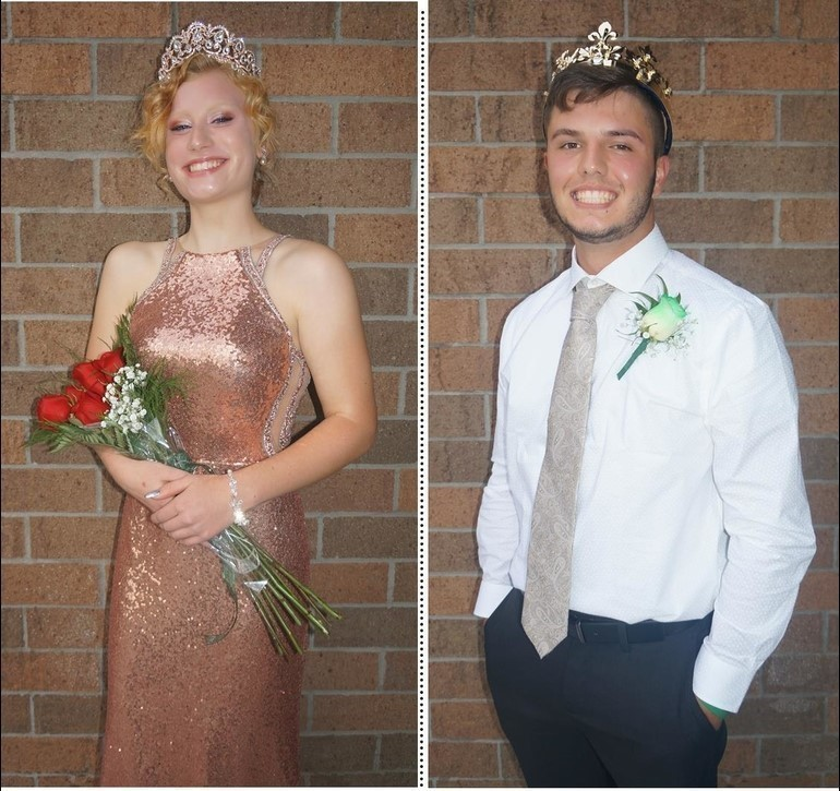 2020-2021 Homecoming King Logan Kesselring and Queen Brooke Reagle