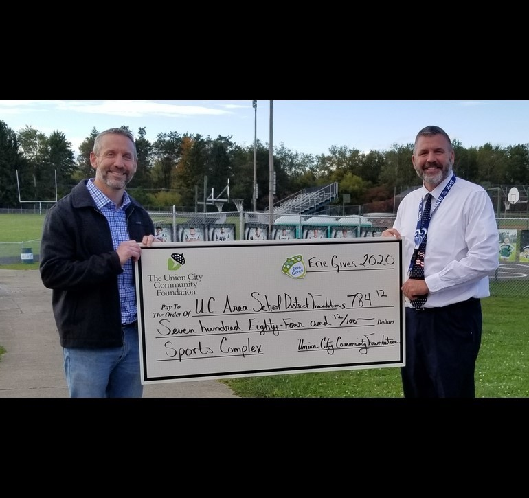 Union City Foundation Donates to UCASD Athletic Complex