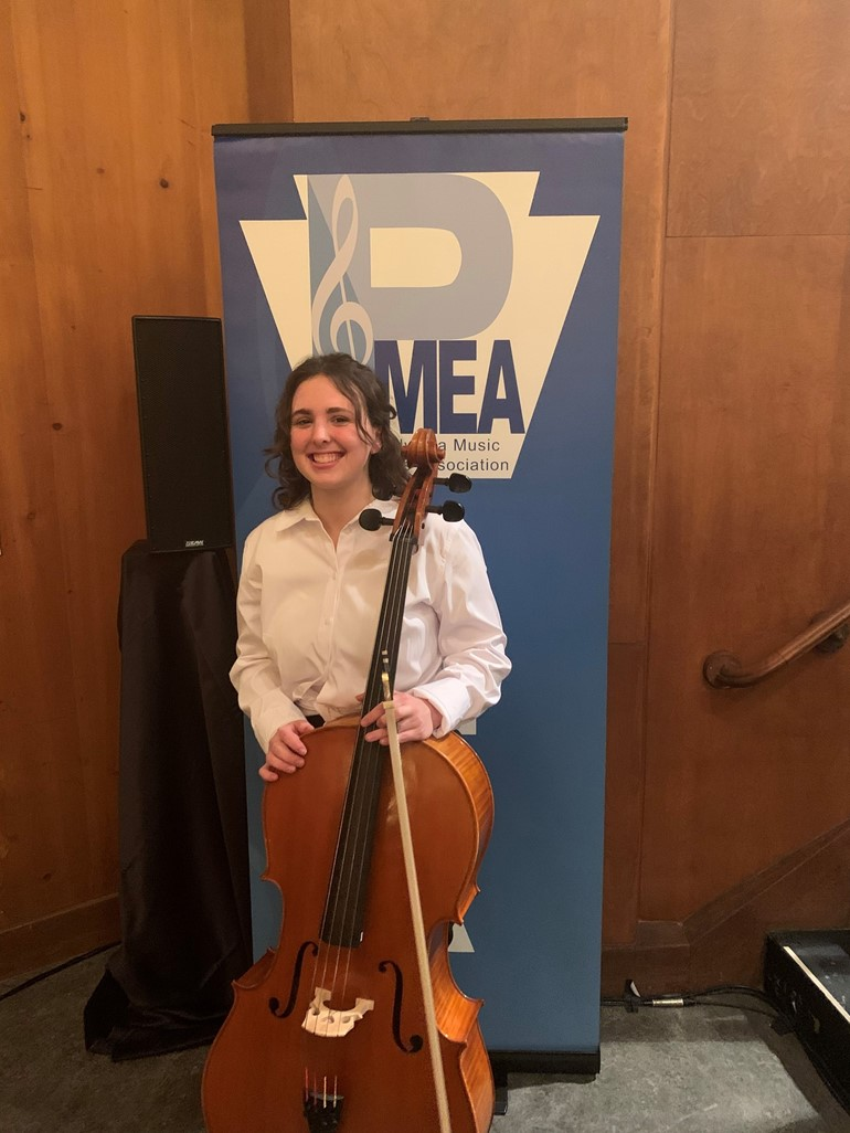 Jordyn Brozell attended PMEA District Orchestra Festival held at Indiana University on January 29-31. Jordyn placed 3rd out of 14 in her audition. She advanced to Region Orchestra which will be held at North Allegheny High School on March 12-14