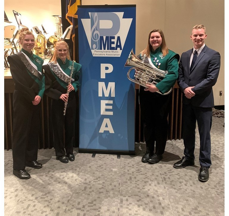 Emily Eastman, Andrea Myer, and Brooke Reagle attended the District Band Festival on February 12-14 at Thiel College. All three ladies advanced to Region Band held at Indiana University on March 25-27.