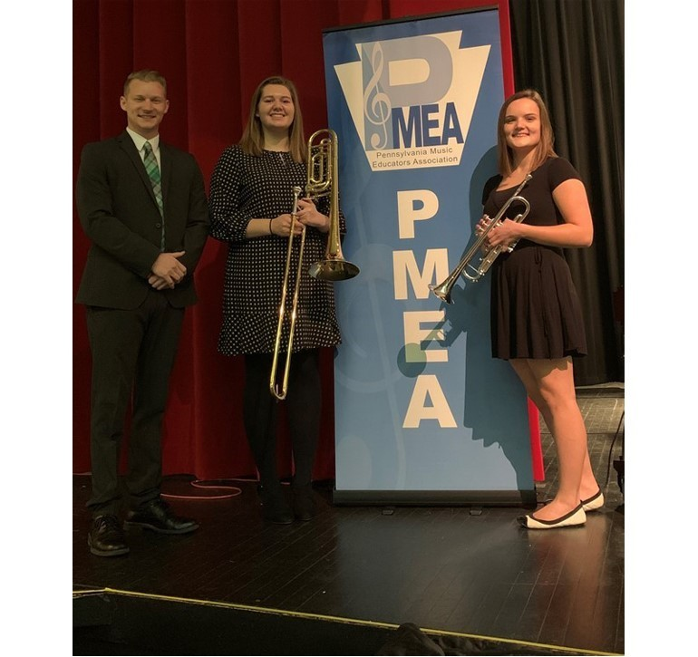 Emily Eastman and Caitlyn Bojaczko attended the PMEA District 2 Jazz Festival at Bradford Area High School. Emily Eastman took 3rd chair on trombone in Band 1 and Caitlyn took 4th chair on trumpet in Band 2! These are the top two bands in the program.
