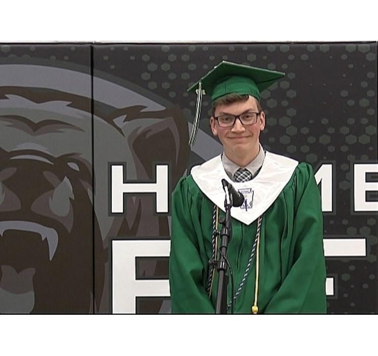 Ian Dufala Union City High School Commencement