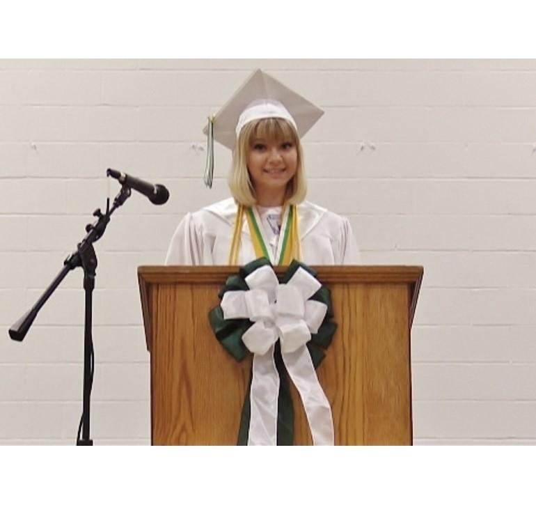 Tara Jackson Union City High School Commencement