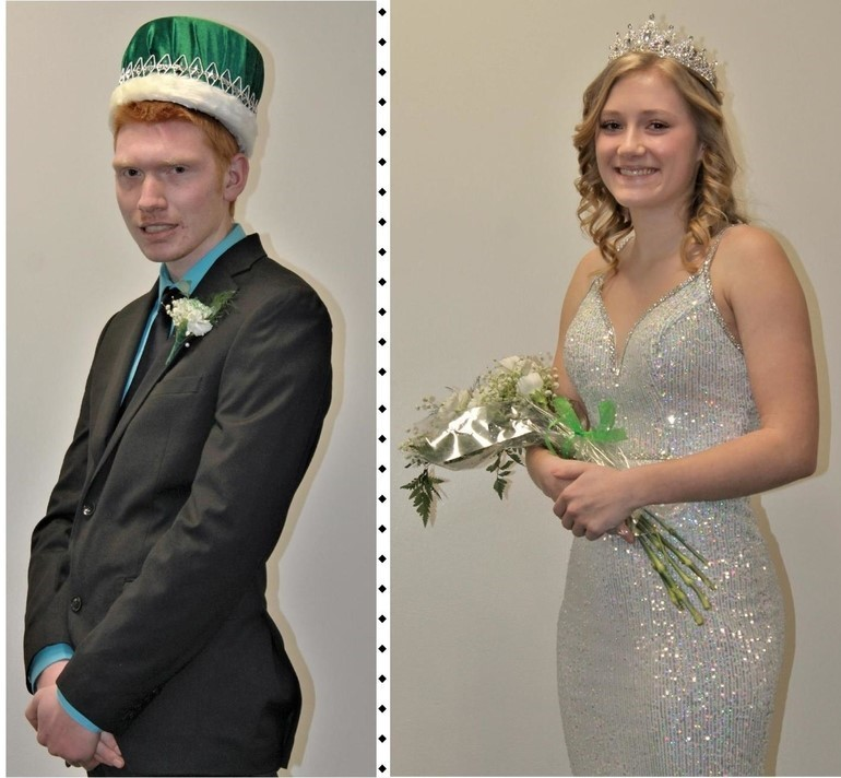 The crowning took place on January 30th (King - Jared Kosienski - Queen - Sarah Manno)