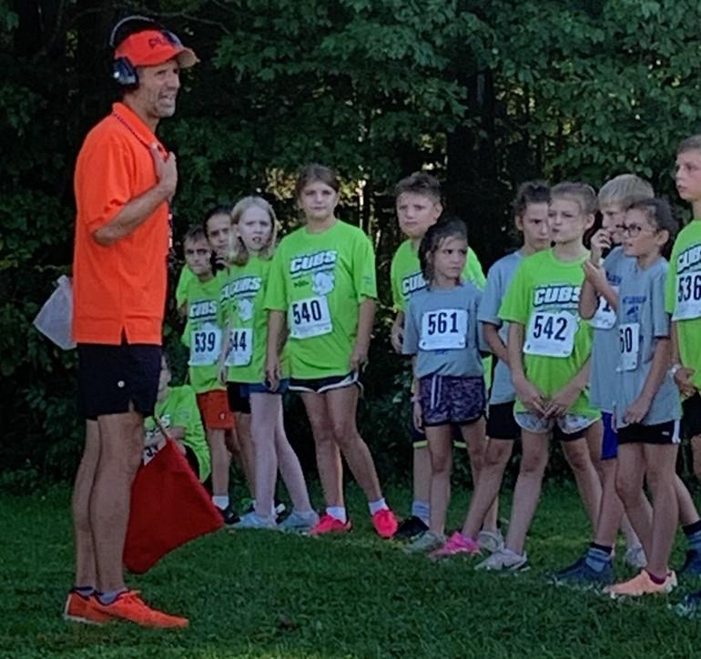 Fun Rn students preparing for their run